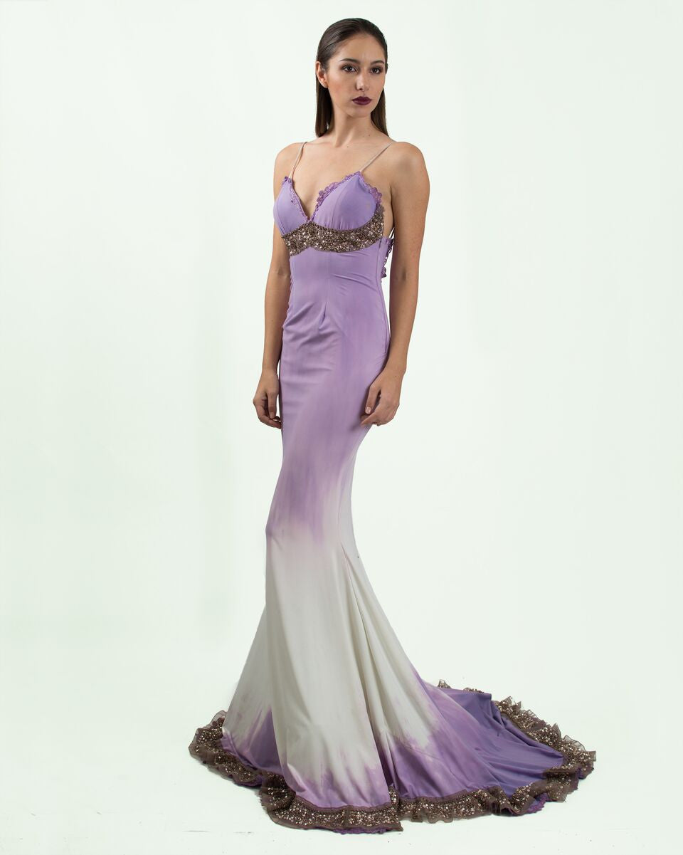 Lavender Ombre Gown