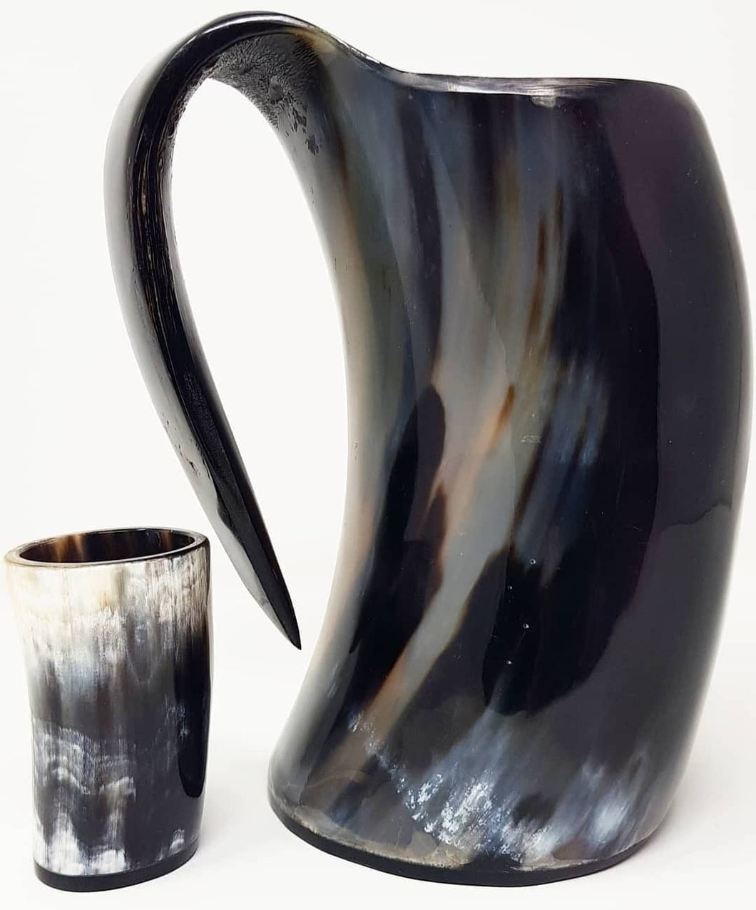 ORIGINDIA The Genuine Handcrafted Authentic Viking Drinking Horn Mug & Free Shot Glass - ORIGINDIA LLC