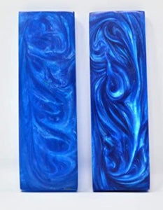 "ORIGINDIA Resin Blue Streaks Scales 5"" inch Handle Set Pair 