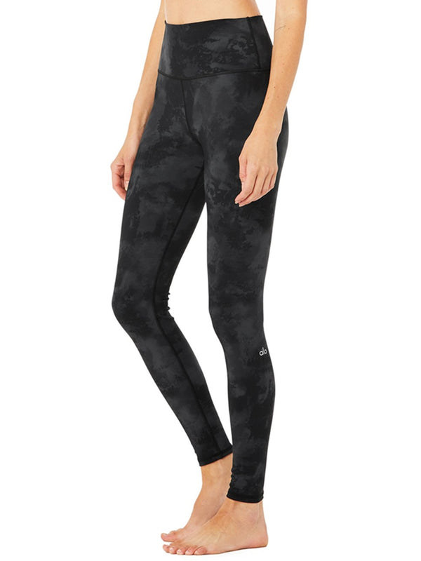 ALO High-Waist Solarized Legging In Black Tie Dye