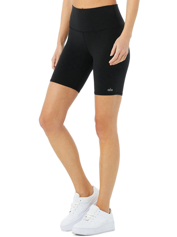 ALO High-Waist Biker Short In Black