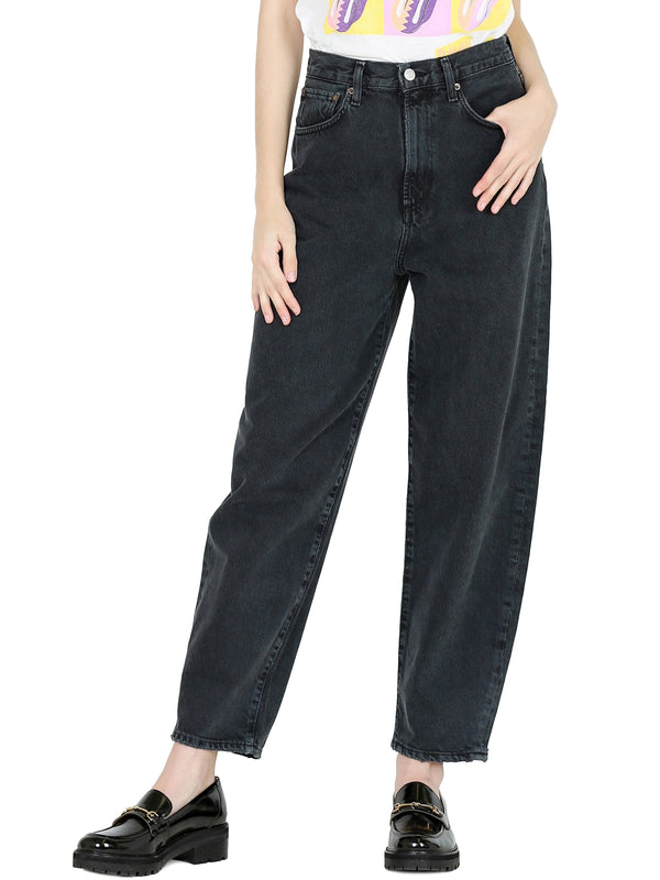 AGOLDE Balloon Jeans In Black Tea