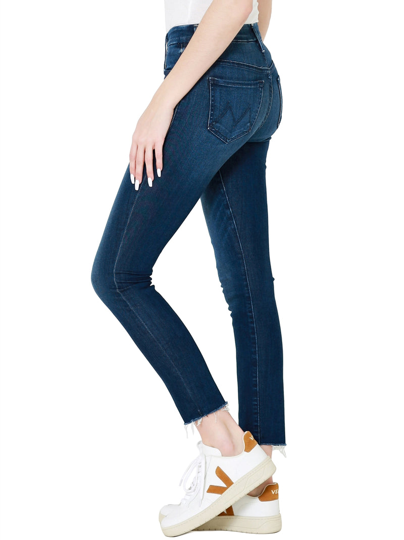 MOTHER The High Waisted Looker Ankle Fray Skinny Jeans In Tongue In Chic