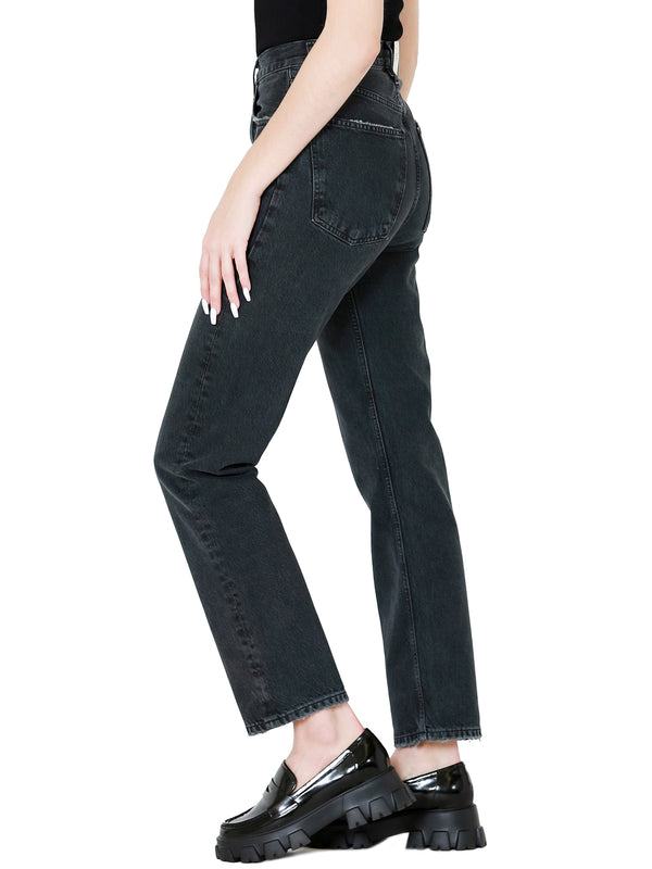 AGOLDE 90's Mid Rise Loose Fit Straight Jeans in Photogram