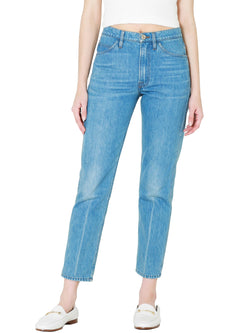 Frame Le Italien Straight Jeans In Pure Blue