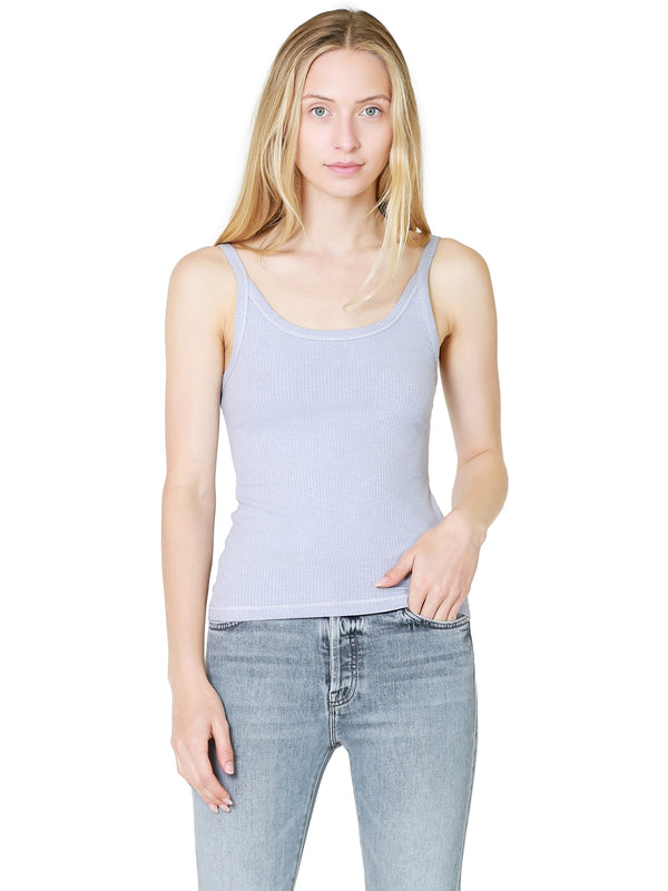 Z Supply Casa Rib Tank In Lavender Grey