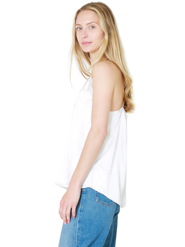 Cami NYC Everly Cami Silk Tank Top In White