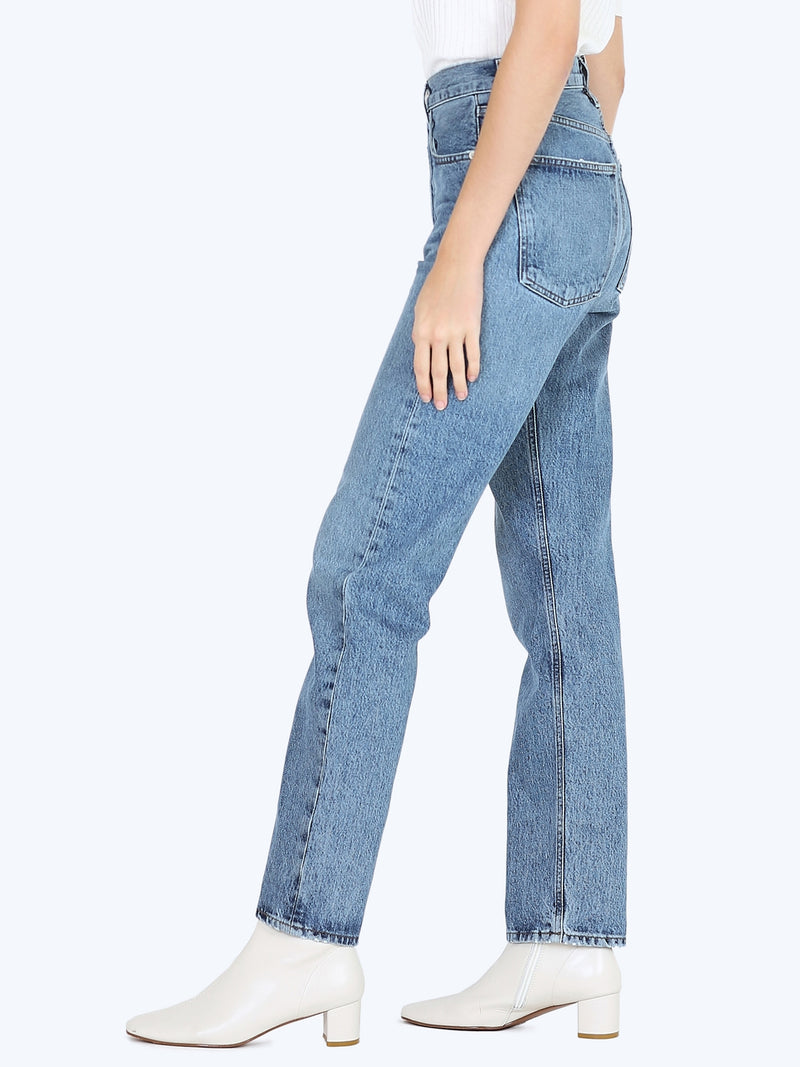 AGOLDE 90s Pinch Waist High Rise Straight In Navigate