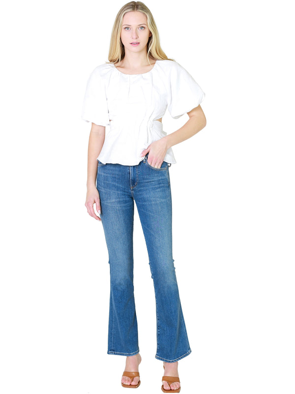 Velvet Albee 3/4 Sleeve Printed Blouse In Bobcat