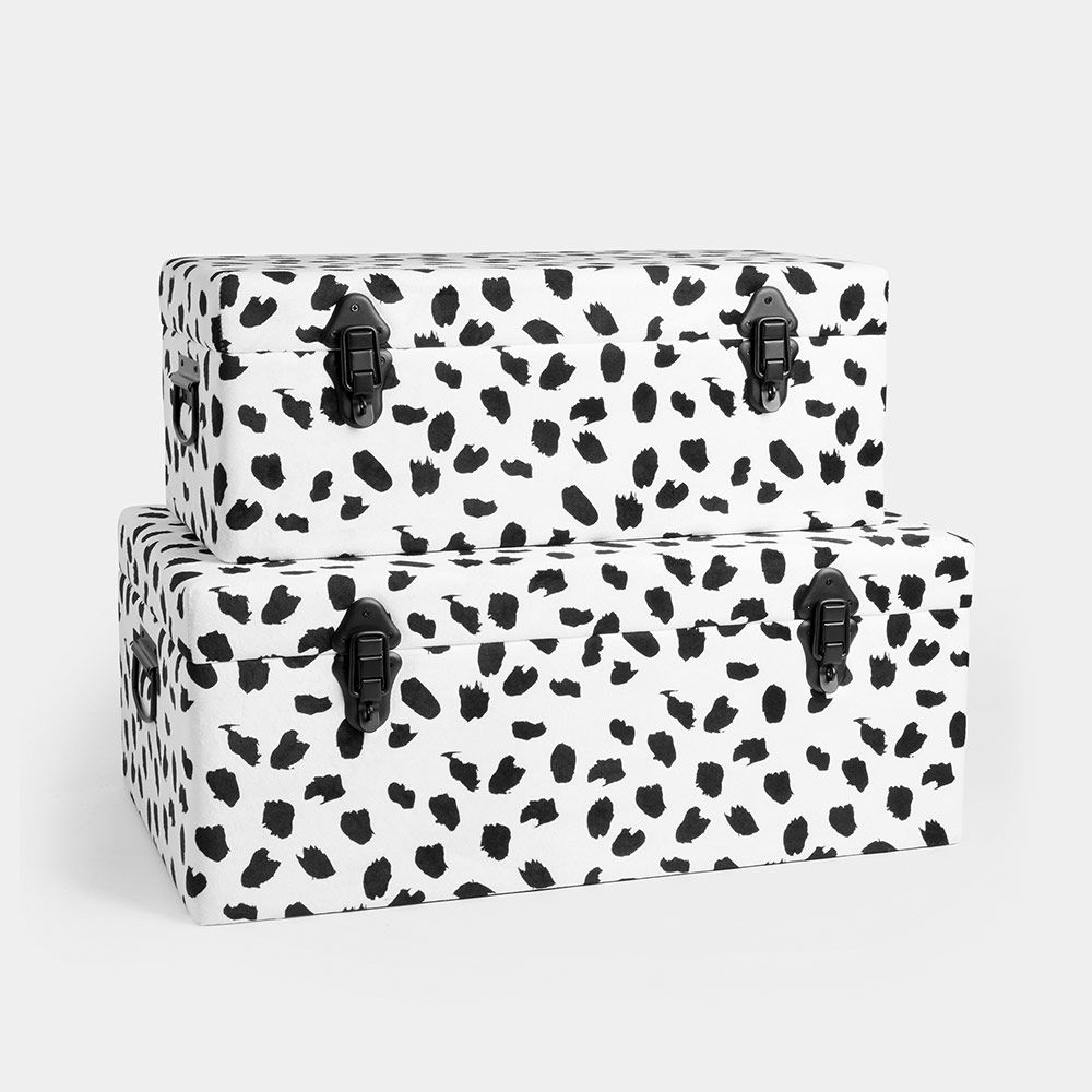Set of 2 Storage Trunks - Dalmatian