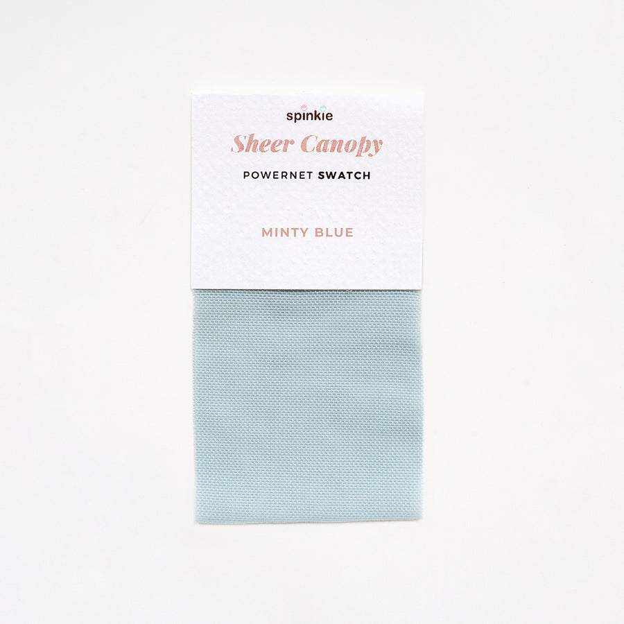 Sheer Canopy Fabric Swatch - Minty Blue