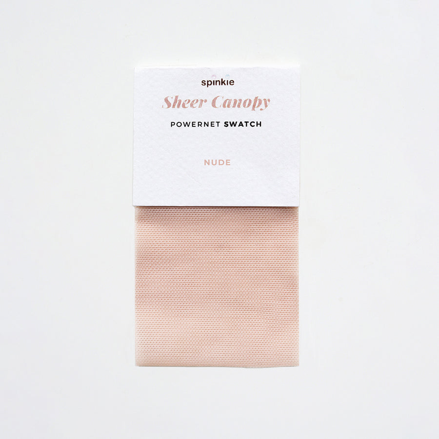 Sheer Canopy Fabric Swatch - Nude