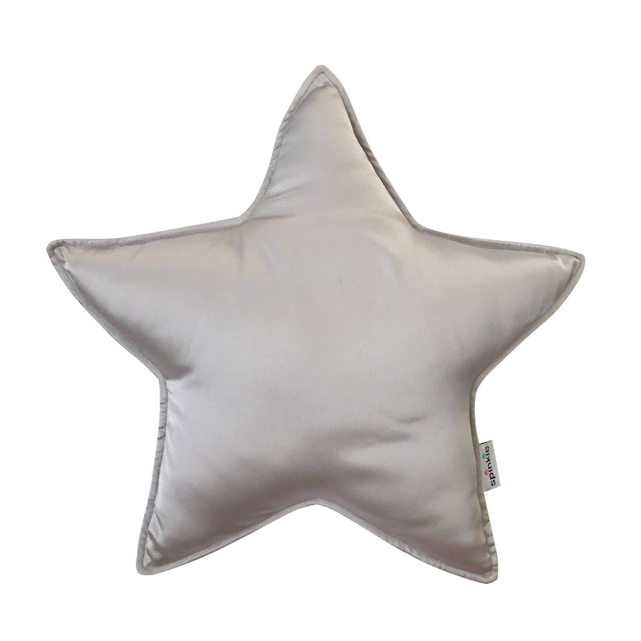 Spinkie Charmeuse Star Pillow  - Oyster