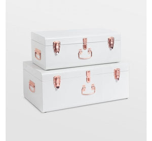 Set of 2 Storage Trunks - Cream