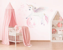 Load image into Gallery viewer, Pegasus Unicorn & Moon Wall Stickers