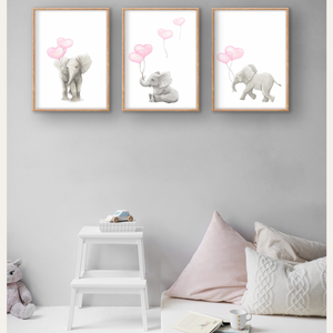 Sleeping Baby Safari Trio Wall Prints