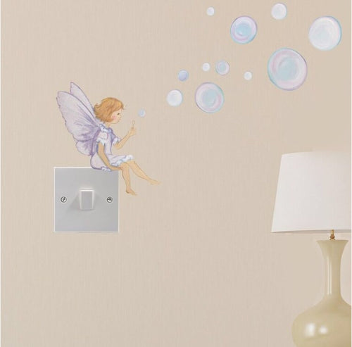 Fairy with Bubbles Wall Sticker