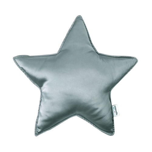 Spinkie Charmeuse Star Pillow  - Vintage Blue