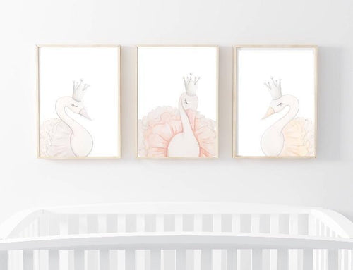 Sophia the Swan Wall Prints