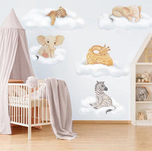 Load image into Gallery viewer, Safari Cloud Baby Wall Stickers - Colour Sets & Individual