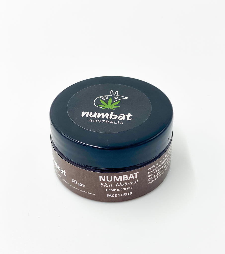 Numbat Skin Natural Hemp & Coffee Face Scrub - 50g