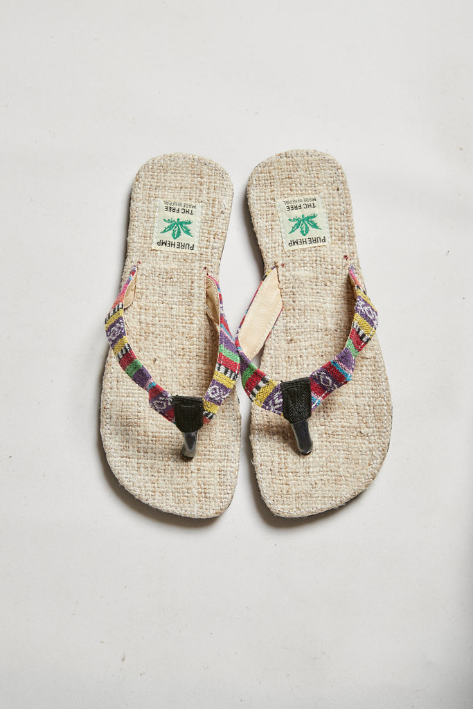 NUMBAT Men's Hemp Thongs - Multi-Coloured Straps