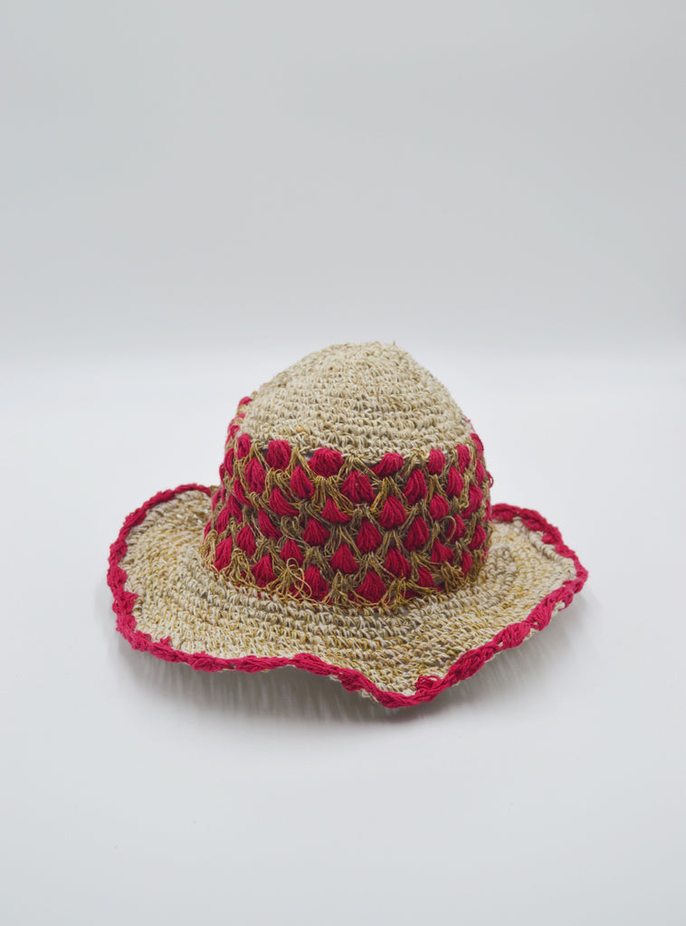 Numbat Ladies Crochet Hemp Hippie Sunhat