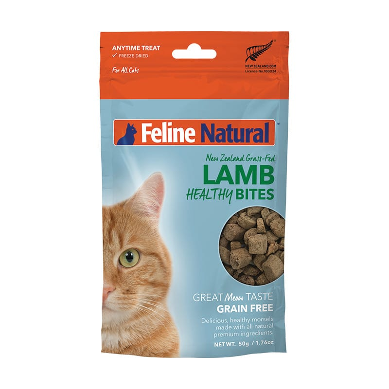 FELINE NATURAL Healthy Bites Freeze-Dried Lamb, 50g