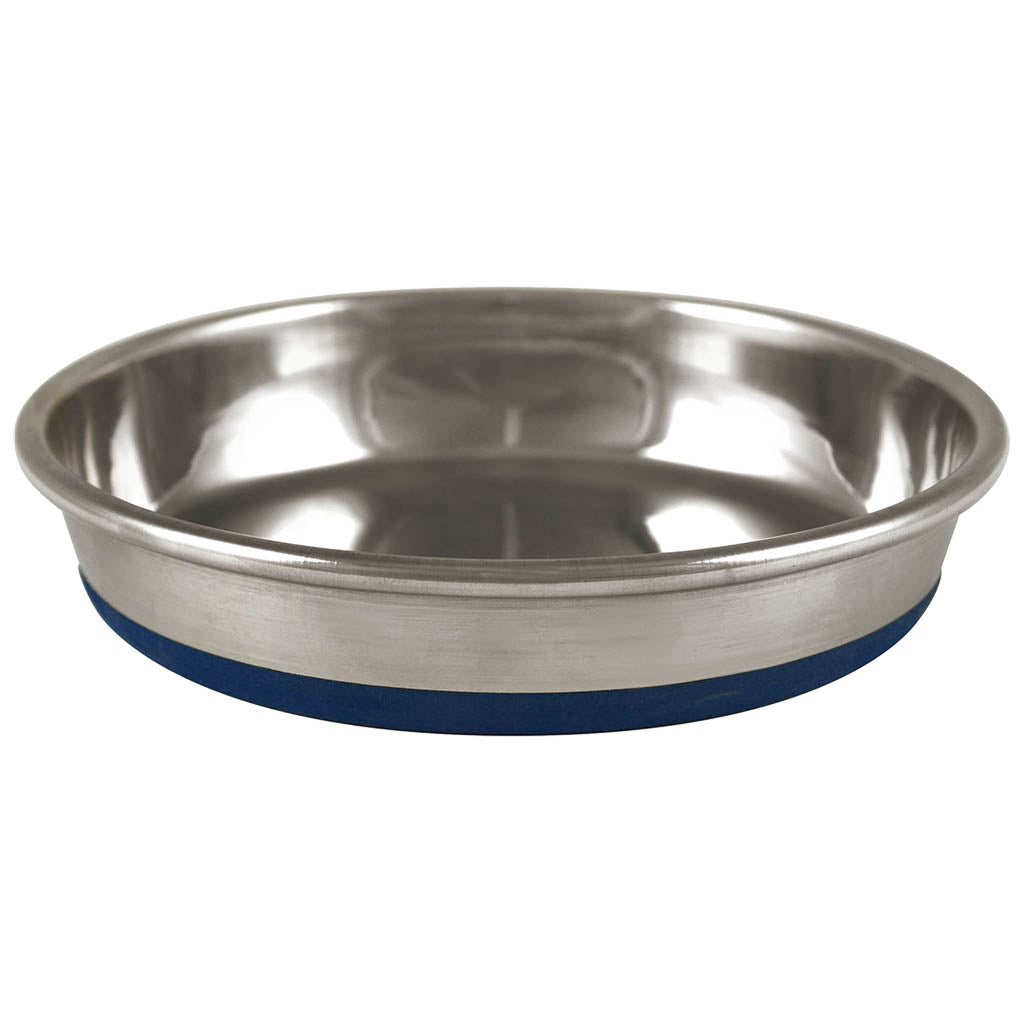 OUR PET'S Rubber Bonded Stainless Steel Dish, 12oz