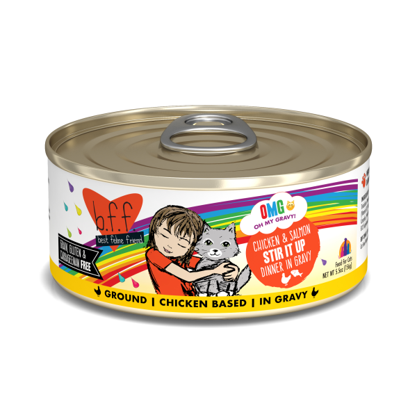 BFF OMG Chicken and Salmon Stir It Up, 5.5oz