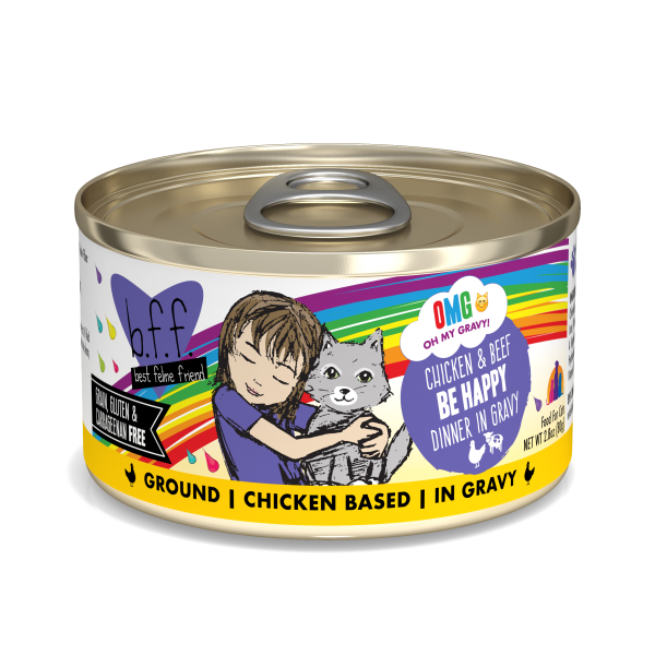 BFF OMG Chicken & Beef Be Happy, 2.8oz