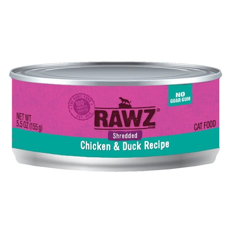 RAWZ Shredded Chicken & Duck Recipe, 155g