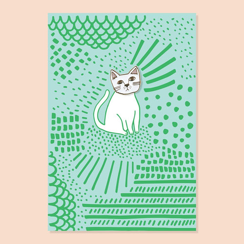 THE GOOD TWIN Kit Cat Pin + Postcard