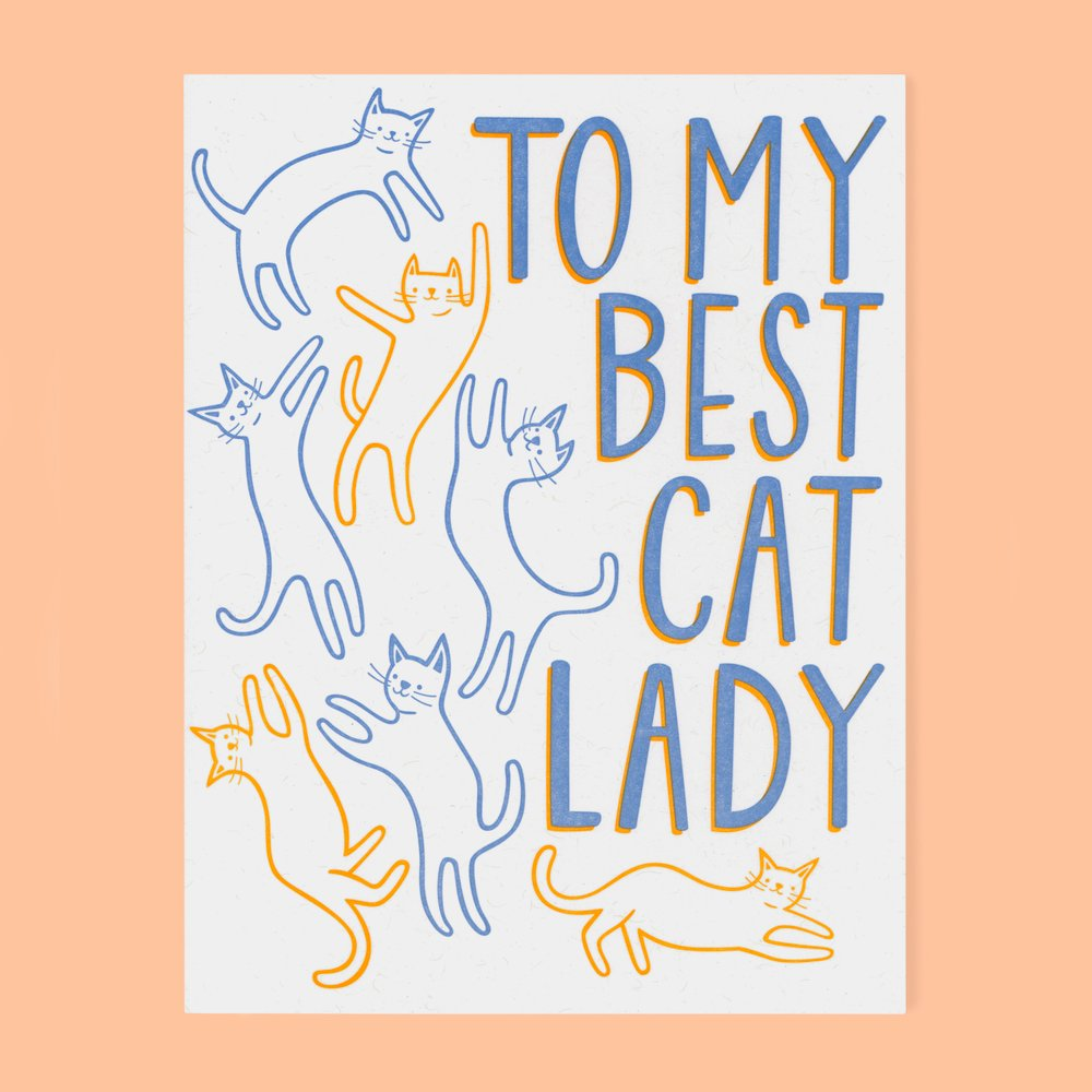 THE GOOD TWIN To My Best Cat Lady Card