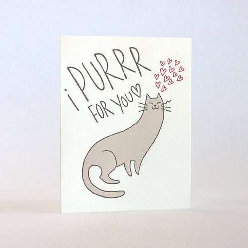 FUGU FUGU PRESS I Purr For You Card