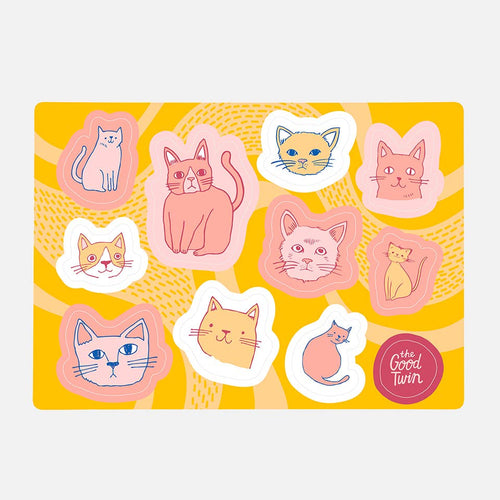 THE GOOD TWIN Cats Sticker Sheet