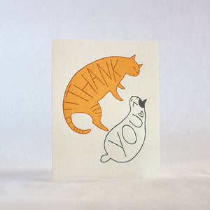 FUGU FUGU PRESS Thank You Cats Card - Set of 8