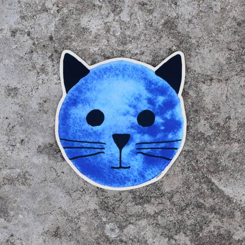 XENOTEES Blue Moon Cat Sticker