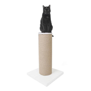 HAUSPANTHER MaxScratch Post and Perch, White
