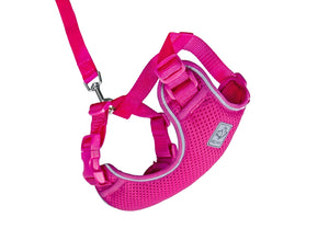RC PETS Adventure Kitty Harness w/Leash Raspberry, large