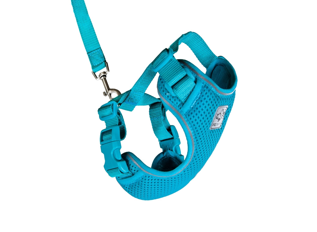 RC PETS Adventure Kitty Harness w/Leash Teal, small