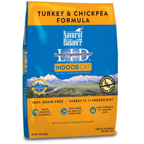 NATURAL BALANCE Indoor Turkey & Chickpea, 10lb (SPECIAL ORDER FOR MARIKO ONLY)