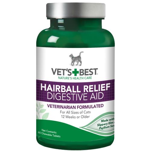 VET'S BEST Hairball Relief/Digestive Aid, 60 tabs