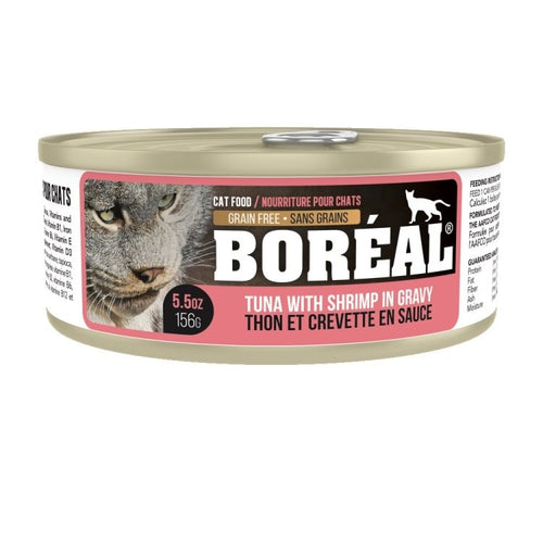 BOREAL Red Meat Tuna & Shrimp in Gravy, 156g
