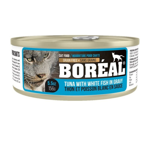 BOREAL Red Meat Tuna & White Fish in Gravy, 156g