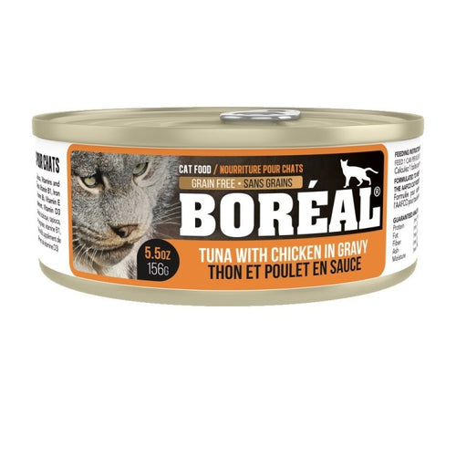 BOREAL Red Meat Tuna with Chicken in Gravy, 156g