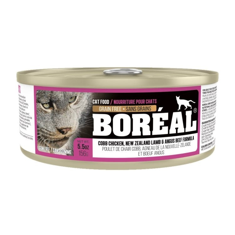 BOREAL Cobb Chicken, New Zealand Lamb & Angus Beef, 156g
