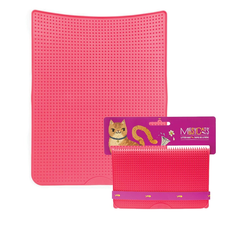MESSY CATS Litter Mat, Red