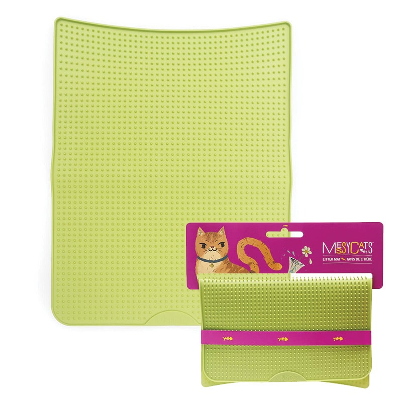MESSY CATS Litter Mat, Green