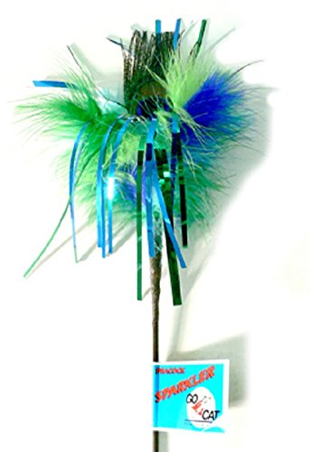 GO CAT 36-inch Peacock Sparkler Wand